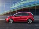 Фото авто Volkswagen Polo 5 поколение [рестайлинг], ракурс: 90 цвет: красный