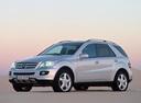 Фото авто Mercedes-Benz M-Класс W164, ракурс: 45 цвет: серебряный