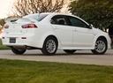 Фото авто Mitsubishi Lancer X, ракурс: 225 цвет: белый
