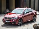 Фото авто BMW X6 F16, ракурс: 45 цвет: красный