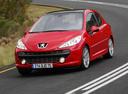 Фото авто Peugeot 207 1 поколение, ракурс: 45 цвет: красный