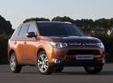 Фото авто Mitsubishi Outlander 3 поколение, ракурс: 315 цвет: оранжевый