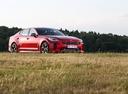 Фото авто Kia Stinger 1 поколение, ракурс: 315 цвет: красный