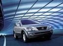 Фото авто Kia Sorento 1 поколение, ракурс: 315 цвет: серебряный