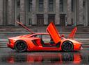 Фото авто Lamborghini Aventador 1 поколение, ракурс: 270 цвет: оранжевый