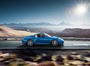 Фото авто Porsche 911 991 [рестайлинг], ракурс: 270 цвет: синий