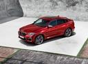Фото авто BMW X4 G02, ракурс: 45 цвет: красный