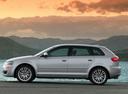 Фото авто Audi A3 8P/8PA [рестайлинг], ракурс: 90 цвет: серебряный