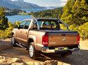 Фото авто Volkswagen Amarok 1 поколение, ракурс: 135 цвет: коричневый