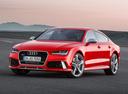 Фото авто Audi RS 7 4G [рестайлинг], ракурс: 45 цвет: красный