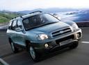 Фото авто Hyundai Santa Fe SM [рестайлинг], ракурс: 315 цвет: серебряный
