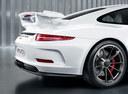 Фото авто Porsche 911 991 [рестайлинг], ракурс: задняя часть цвет: белый