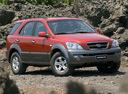 Фото авто Kia Sorento 1 поколение, ракурс: 315 цвет: красный