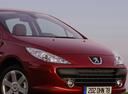 Фото авто Peugeot 307 1 поколение [рестайлинг], ракурс: передняя часть цвет: красный