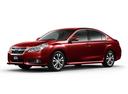 Фото авто Subaru Legacy 5 поколение [рестайлинг], ракурс: 45 цвет: красный