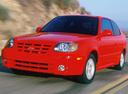 Фото авто Hyundai Accent LC [рестайлинг], ракурс: 45 цвет: красный