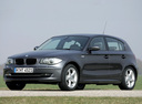 Фото авто BMW 1 серия E81/E82/E87/E88 [рестайлинг], ракурс: 45 цвет: серый