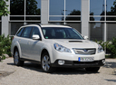 Фото авто Subaru Outback 4 поколение, ракурс: 315 цвет: белый