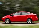Фото авто Ford Fiesta 6 поколение [рестайлинг], ракурс: 90 цвет: красный