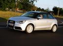 Фото авто Audi A1 8X, ракурс: 45 цвет: серебряный