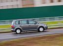 Фото авто Volkswagen Touran 1 поколение [2-й рестайлинг], ракурс: 270 цвет: серый