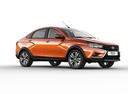 Фото авто ВАЗ (Lada) Vesta 1 поколение, ракурс: 315 - рендер цвет: оранжевый
