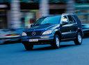 Фото авто Mercedes-Benz M-Класс W163, ракурс: 45 цвет: синий