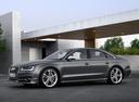 Фото авто Audi S8 D4 [рестайлинг], ракурс: 90 цвет: серый