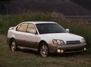 Фото авто Subaru Outback 2 поколение, ракурс: 315 цвет: белый