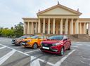 Фото авто ВАЗ (Lada) XRAY 1 поколение, ракурс: 45 цвет: красный