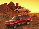 Фото авто Ford Explorer 3 поколение, ракурс: 45 цвет: красный