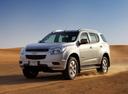 Фото авто Chevrolet TrailBlazer 2 поколение, ракурс: 45 цвет: серебряный