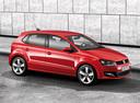 Фото авто Volkswagen Polo 5 поколение, ракурс: 270 цвет: красный