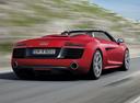 Фото авто Audi R8 1 поколение [рестайлинг], ракурс: 225 цвет: красный
