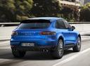 Фото авто Porsche Macan 1 поколение, ракурс: 180 цвет: синий