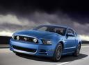 Фото авто Ford Mustang 5 поколение [2-й рестайлинг], ракурс: 45 цвет: голубой