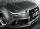 Фото авто Audi RS 7 4G [рестайлинг], ракурс: передняя часть цвет: серый