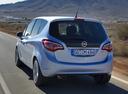 Фото авто Opel Meriva 2 поколение [рестайлинг], ракурс: 135 цвет: голубой