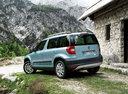 Фото авто Skoda Yeti 1 поколение, ракурс: 135 цвет: синий