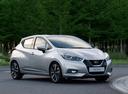 Фото авто Nissan Micra K14, ракурс: 315 цвет: серебряный