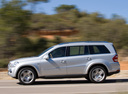 Фото авто Mercedes-Benz GL-Класс X164 [рестайлинг], ракурс: 90 цвет: серебряный