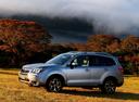 Фото авто Subaru Forester 4 поколение, ракурс: 90 цвет: серебряный