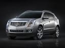 Фото авто Cadillac SRX 2 поколение [рестайлинг], ракурс: 45 цвет: серебряный