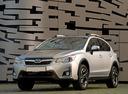 Фото авто Subaru XV 1 поколение [рестайлинг], ракурс: 45 цвет: серебряный