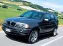 Фото авто BMW X5 E53, ракурс: 45 цвет: серый