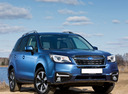 Фото авто Subaru Forester 4 поколение [рестайлинг], ракурс: 315 цвет: синий