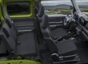 Фото авто Suzuki Jimny 4 поколение, ракурс: салон целиком цвет: зеленый