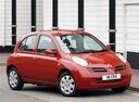 Фото авто Nissan Micra K12, ракурс: 315 цвет: красный