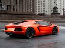 Фото авто Lamborghini Aventador 1 поколение, ракурс: 225 цвет: оранжевый