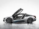 Фото авто BMW i8 I12, ракурс: 90 цвет: серебряный